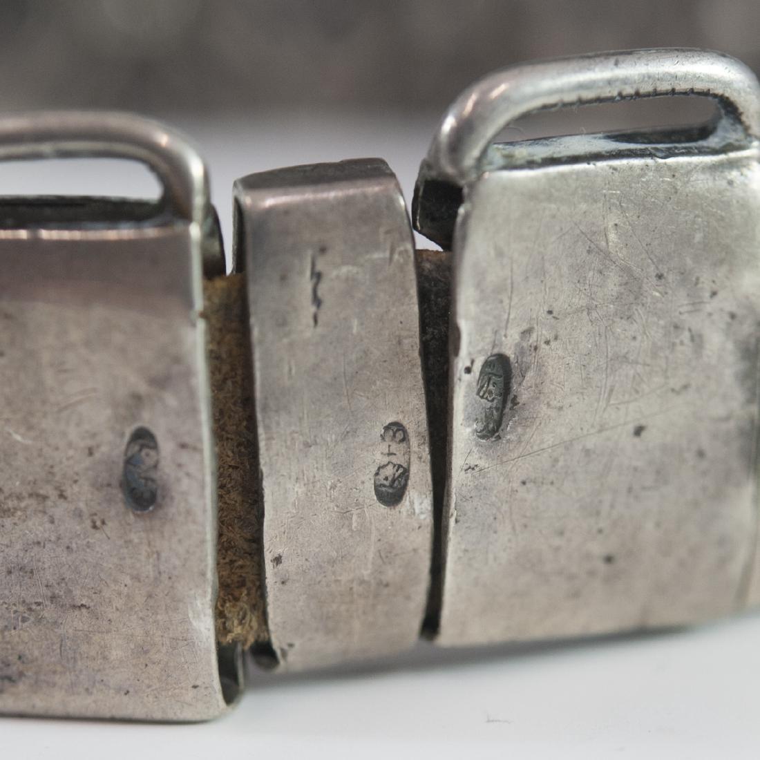 Russian Silver Niello Belt - 3