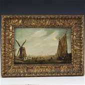 19th Century Dutch Oil on Wood Panel