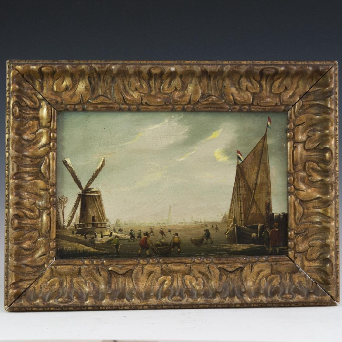 19th Century Dutch Oil on Wood Panel