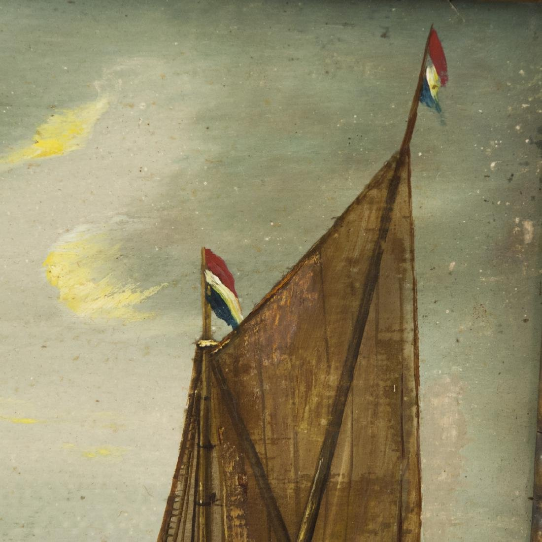19th Century Dutch Oil on Wood Panel - 4