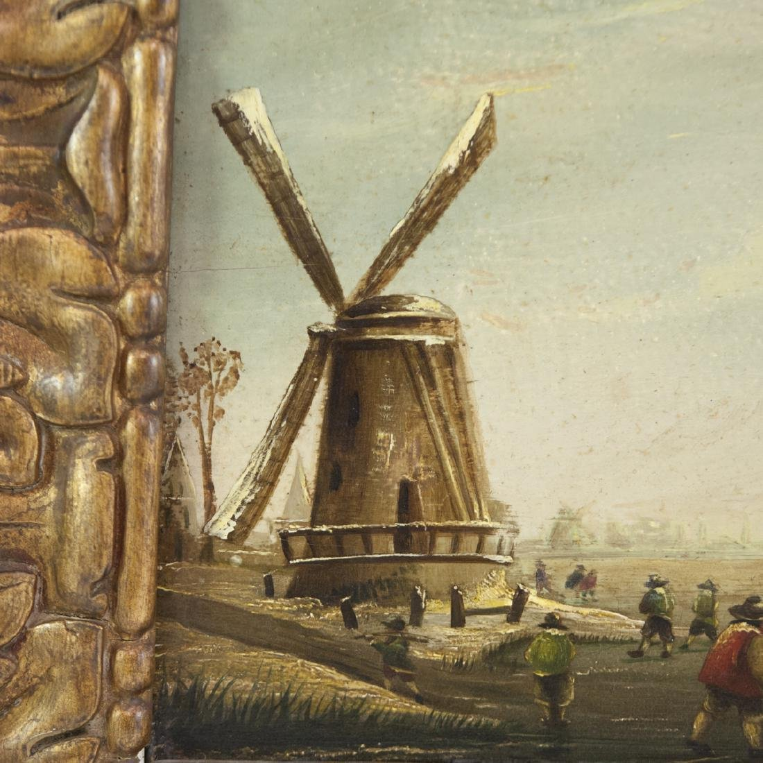 19th Century Dutch Oil on Wood Panel - 5