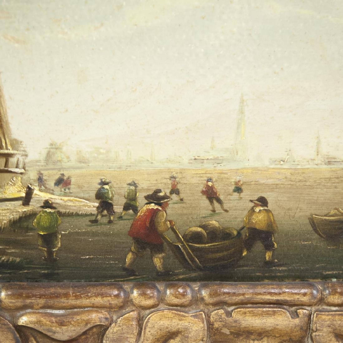 19th Century Dutch Oil on Wood Panel - 6