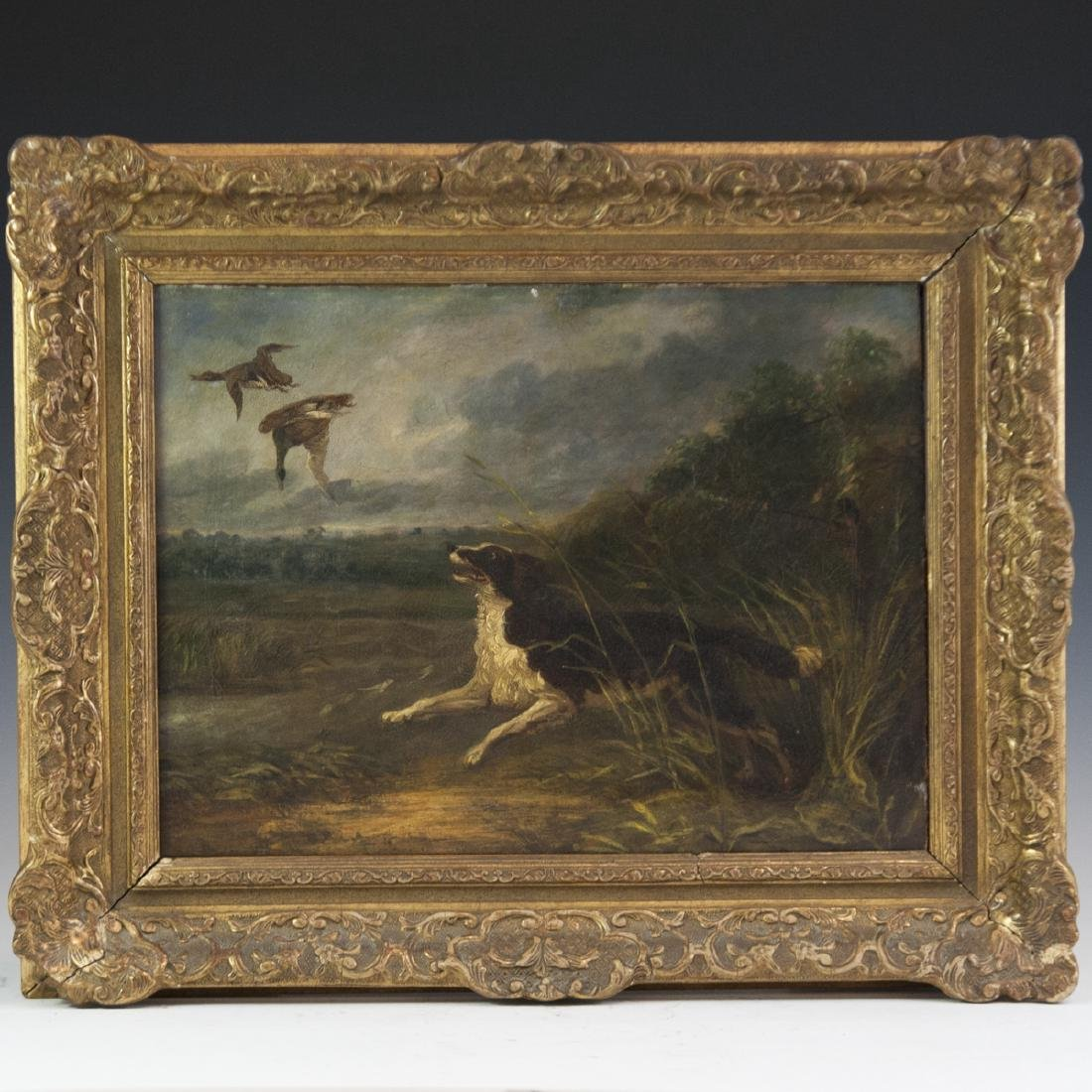 19th Century Continental Oil on Canvas