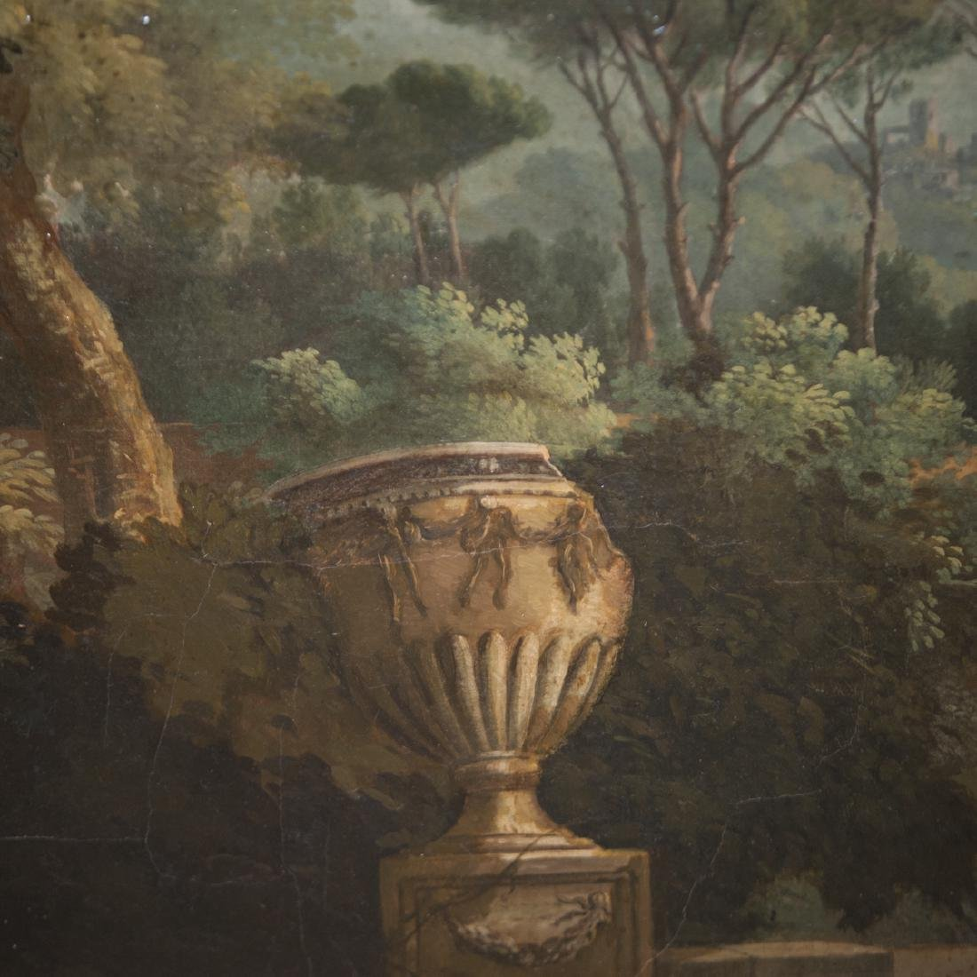 Antique Continental Oil on Canvas - 2