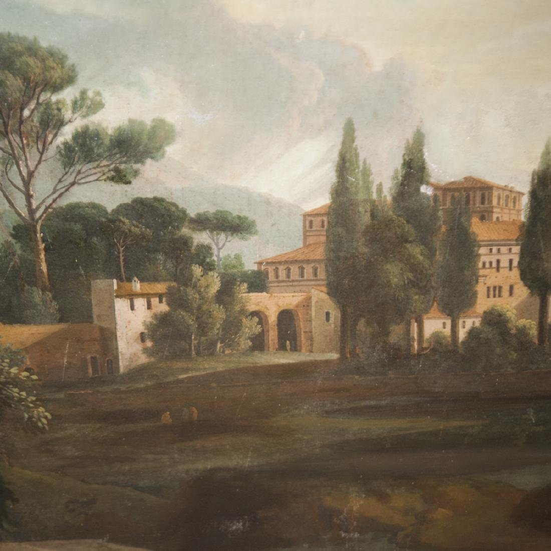 Antique Continental Oil on Canvas - 4