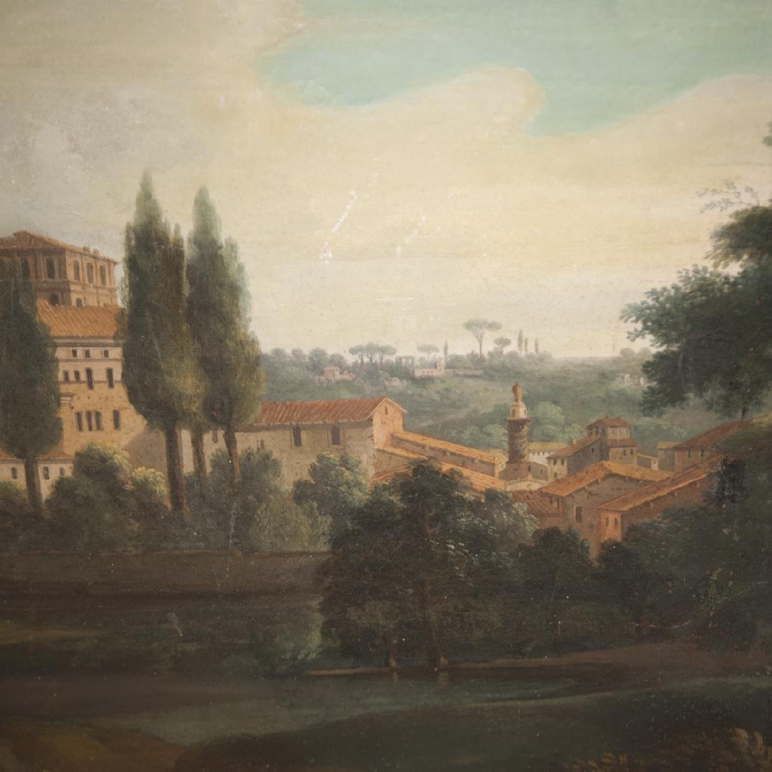 Antique Continental Oil on Canvas - 5