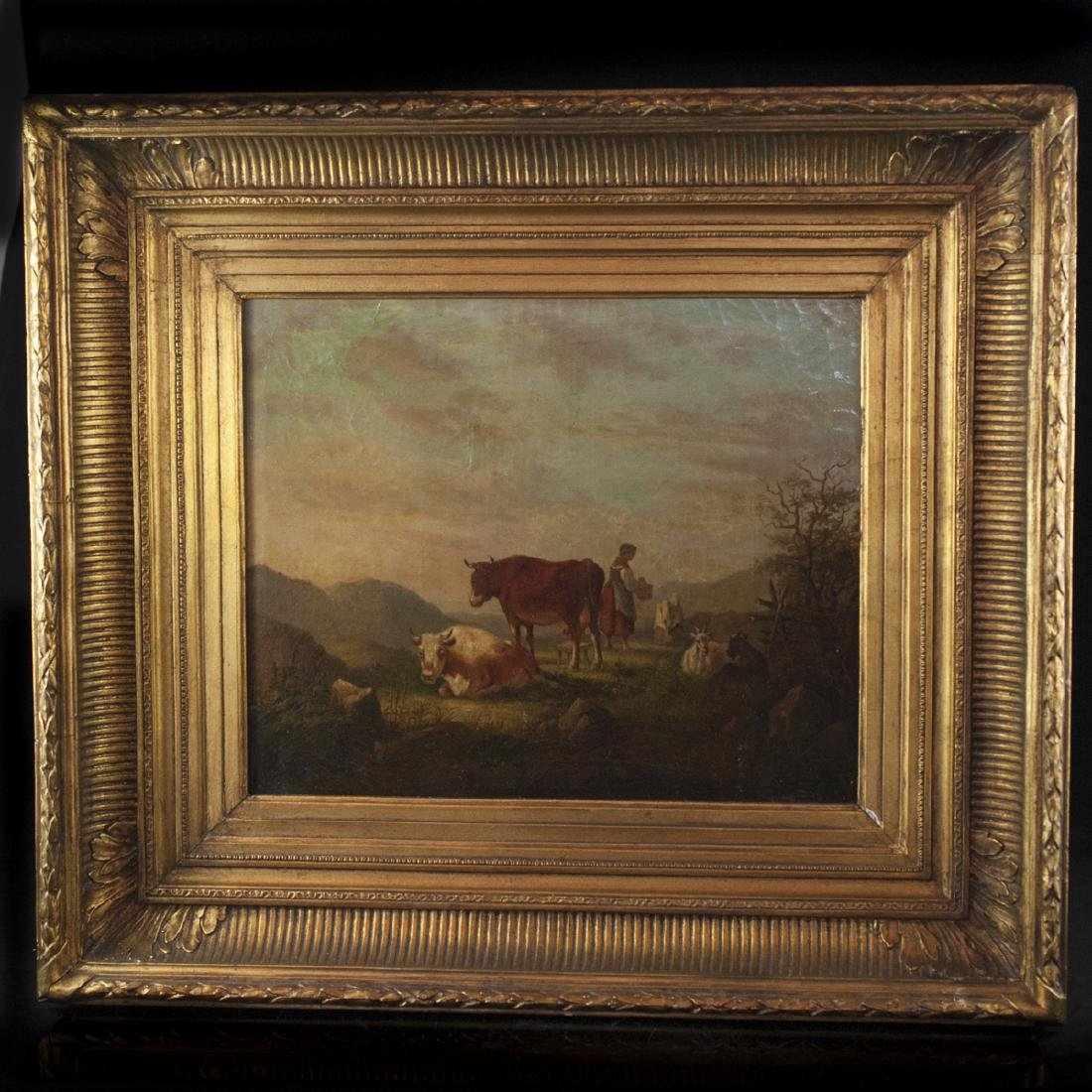 19th Century French School Oil on Canvas