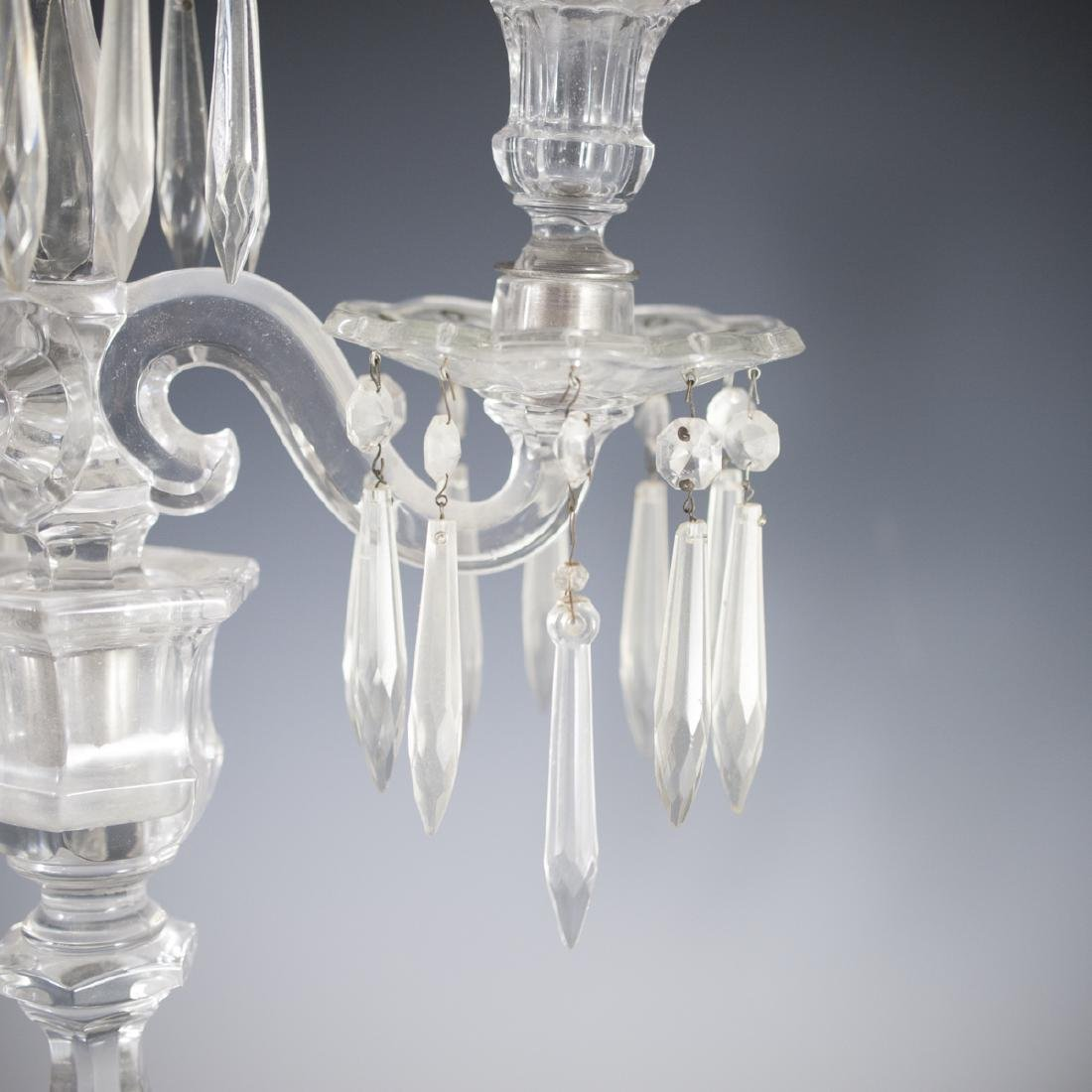 Antique Possibly Baccarat Crystal Candelabra - 4