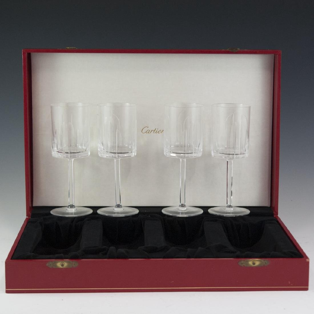 Cartier Crystal Wine Glasses