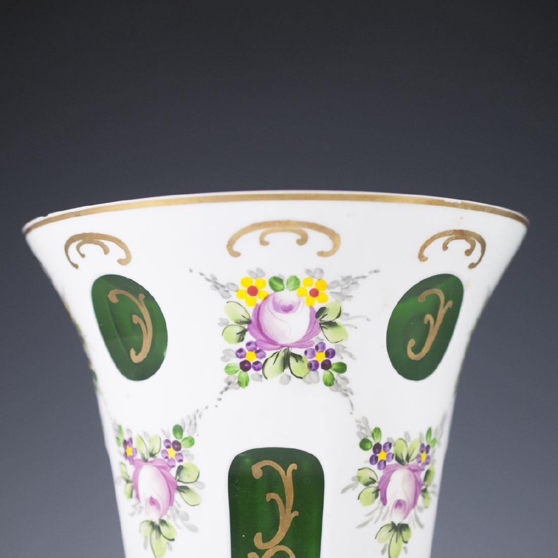 Bohemian Overlay Glass Vase - 2