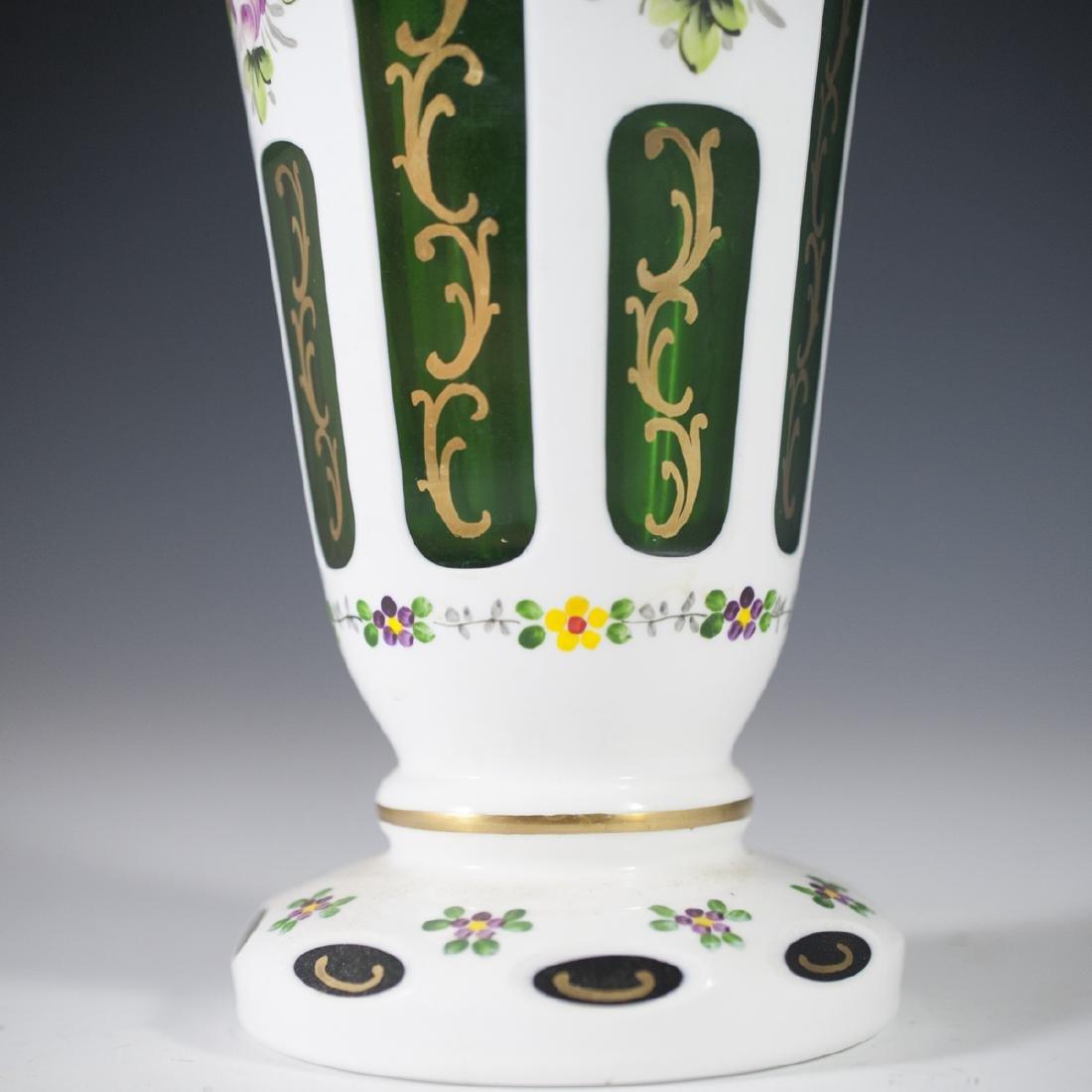 Bohemian Overlay Glass Vase - 3