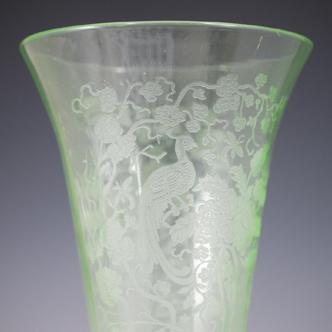 Etched Glass Vase - 2