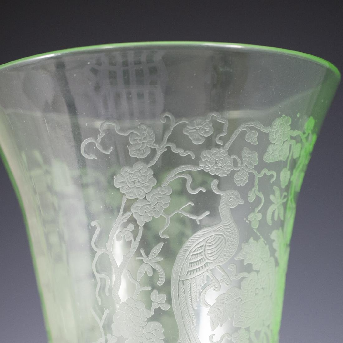 Etched Glass Vase - 3