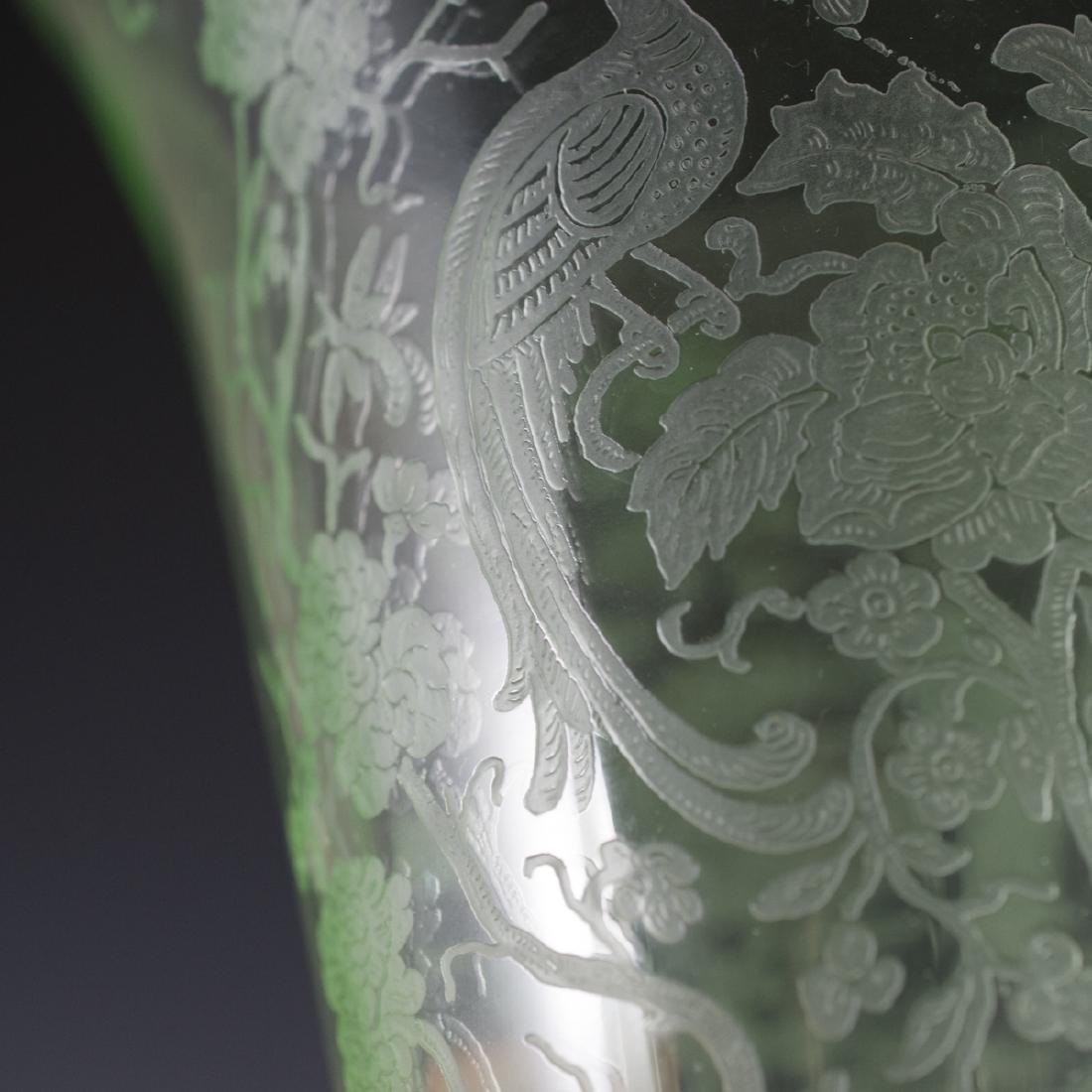 Etched Glass Vase - 4