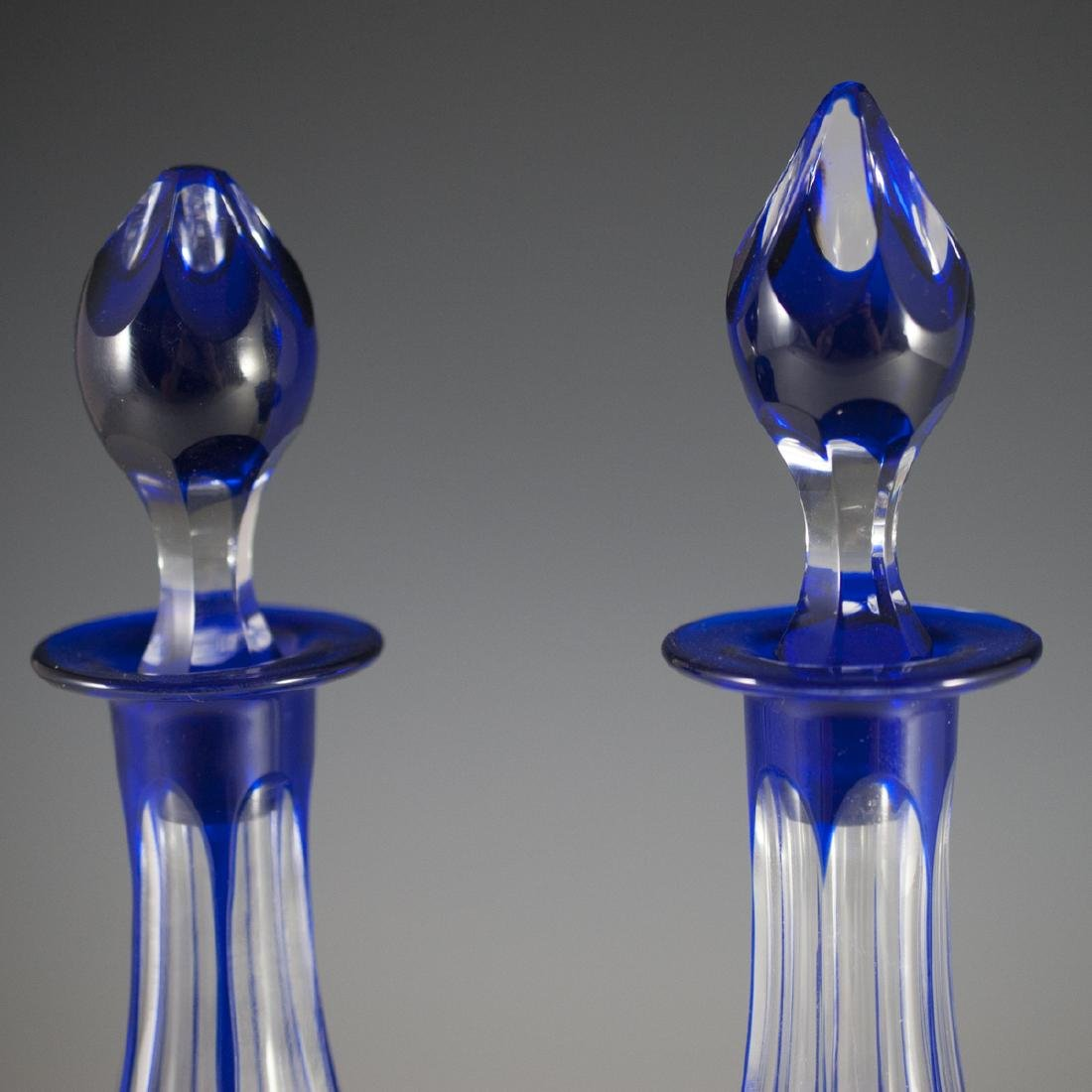 Bohemian Cobalt Crystal Decanters - 3