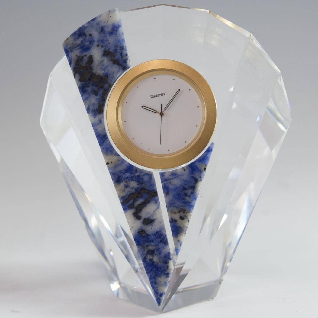 "Swarovski Crystal ""Curacao"" Clock - 4"