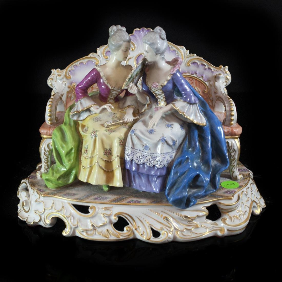 Antique Capodimonte Porcelain Figurine