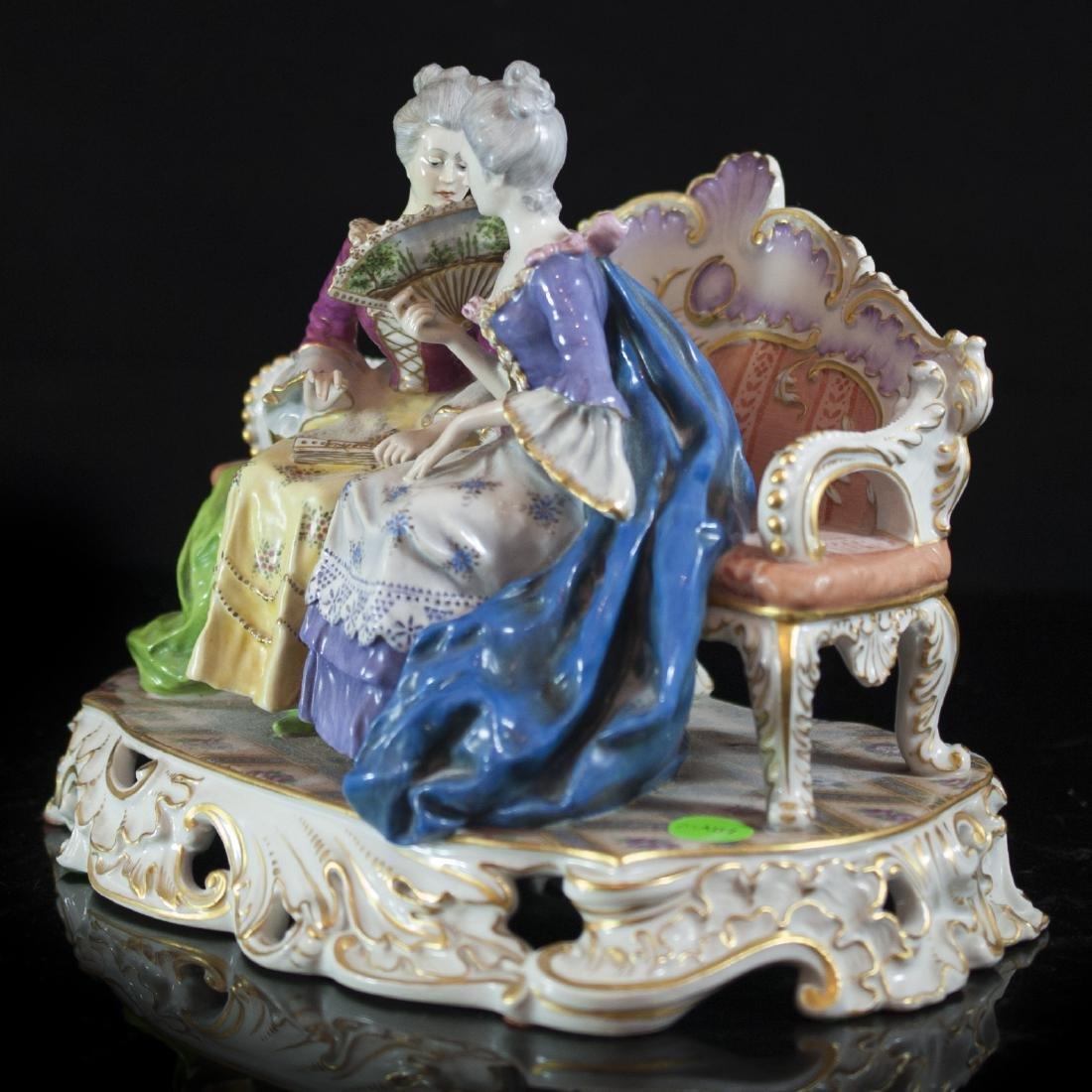 Antique Capodimonte Porcelain Figurine - 6