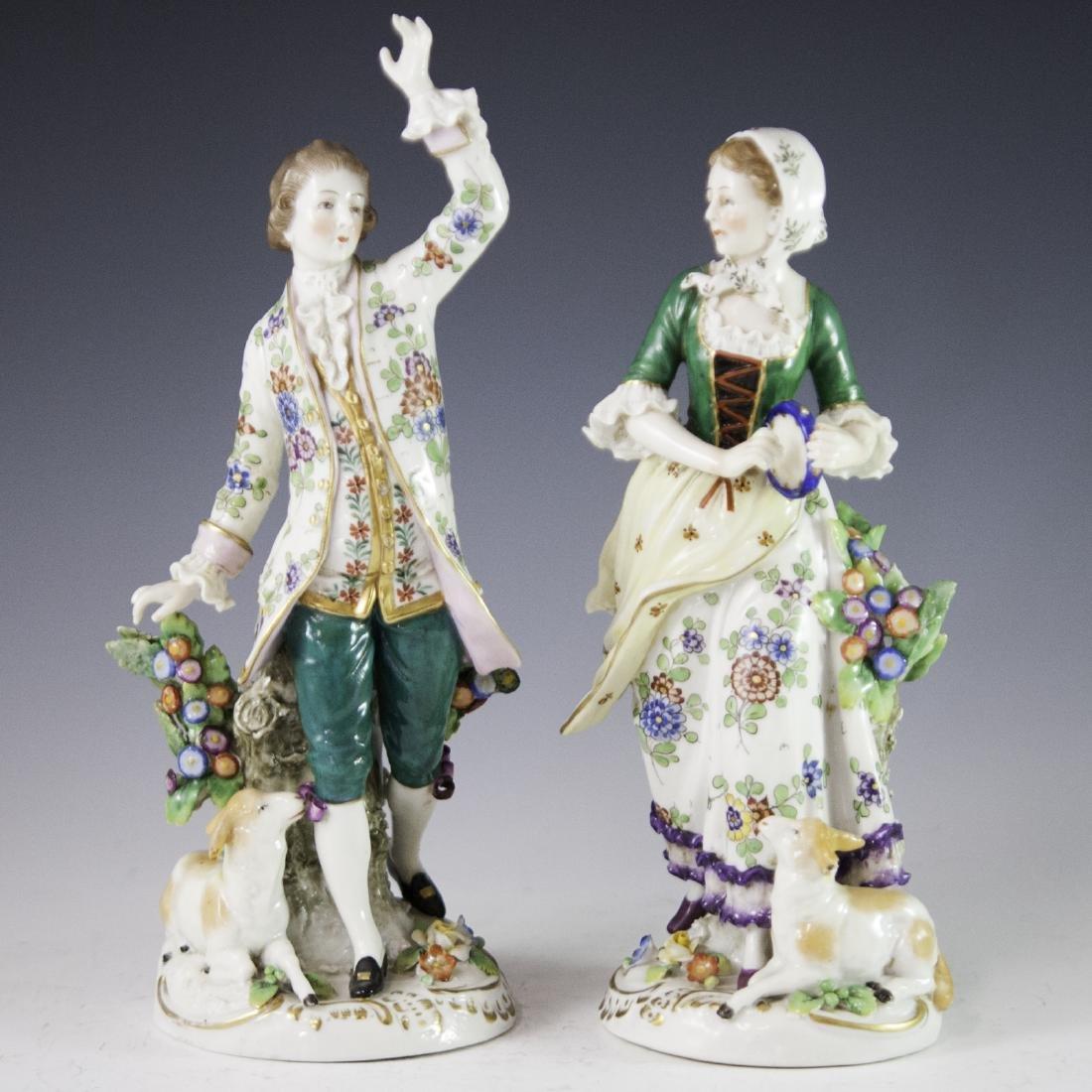 Chelsea Style Porcelain Figurines