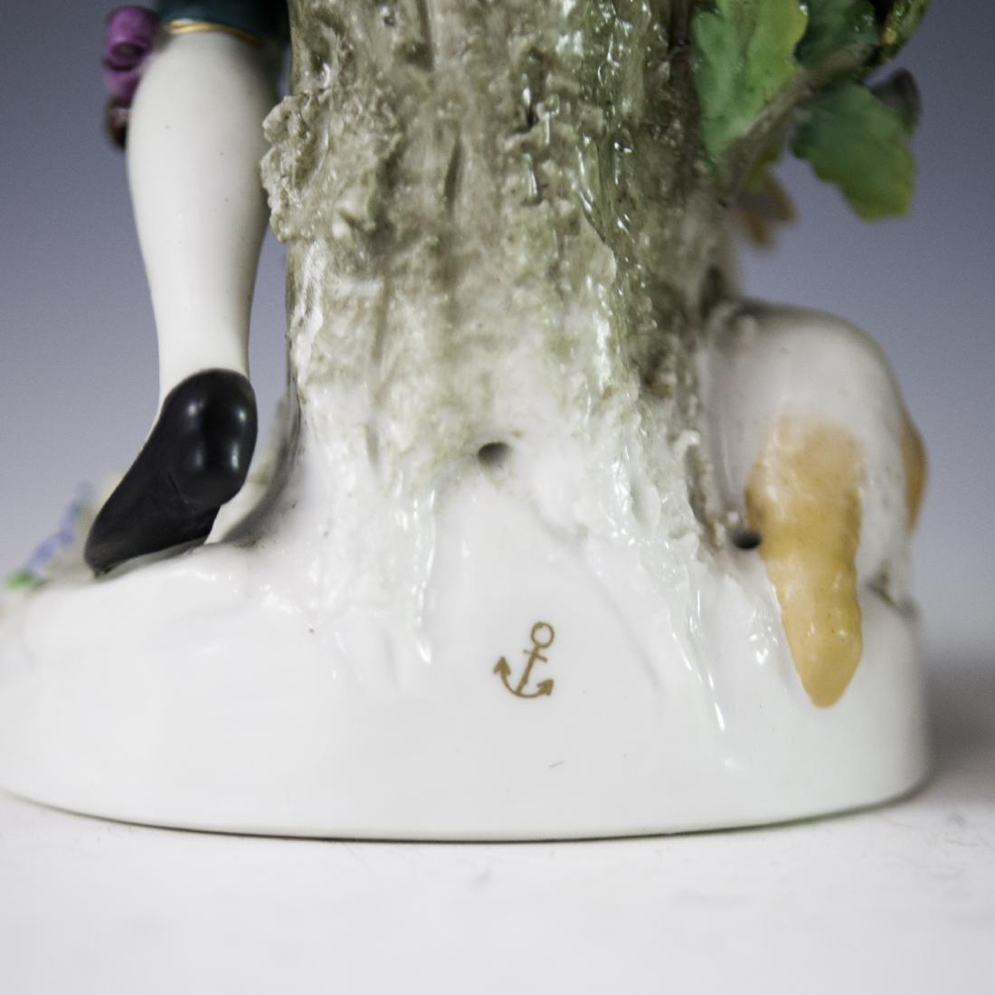 Chelsea Style Porcelain Figurines - 2