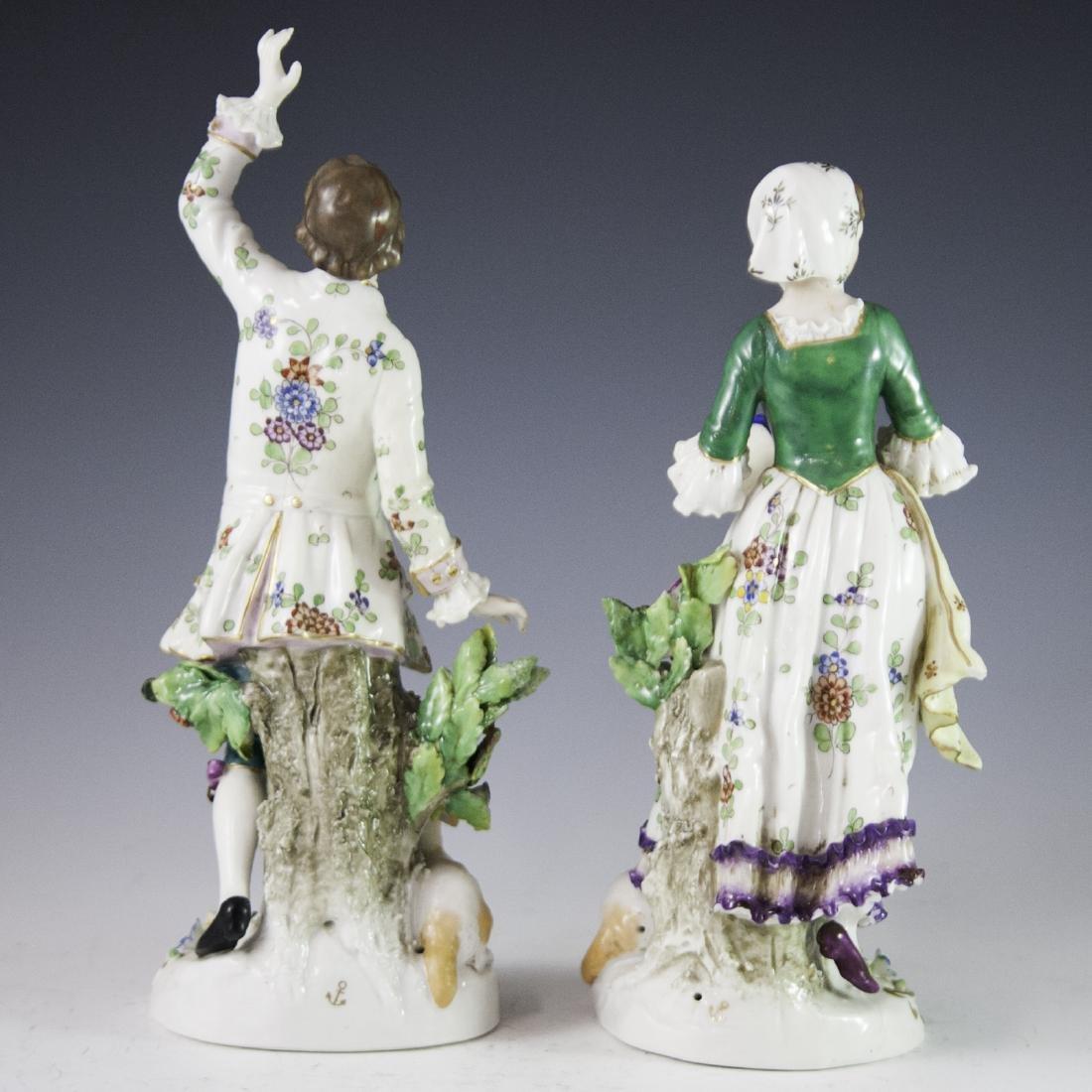 Chelsea Style Porcelain Figurines - 4
