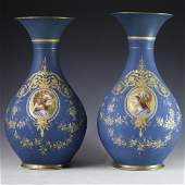 Old Paris Neoclassical Porcelain Vases