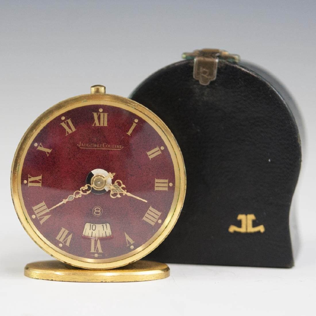 Jaeger Lecoultre Gilt Metal Travel Clock