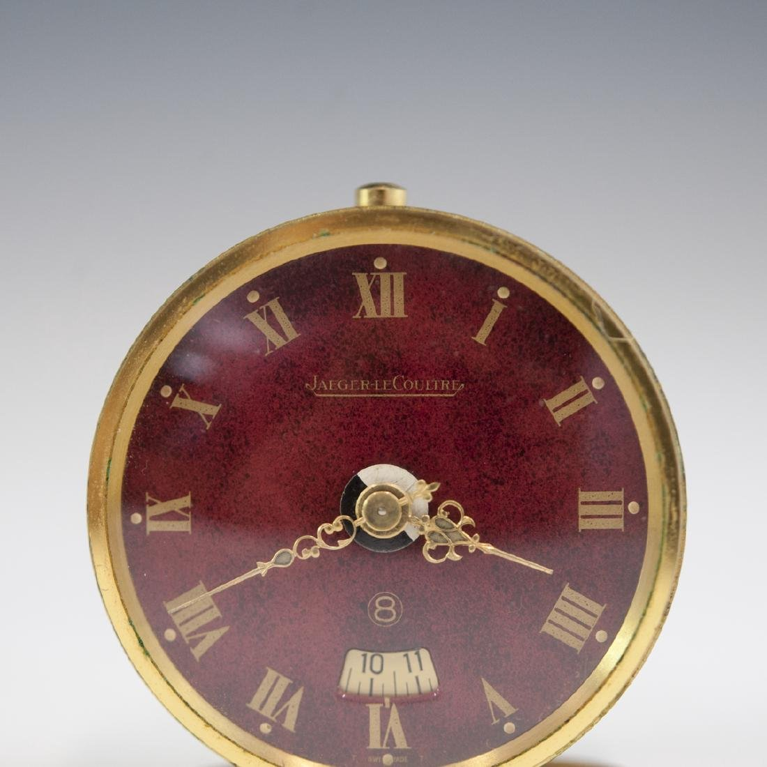 Jaeger Lecoultre Gilt Metal Travel Clock - 5