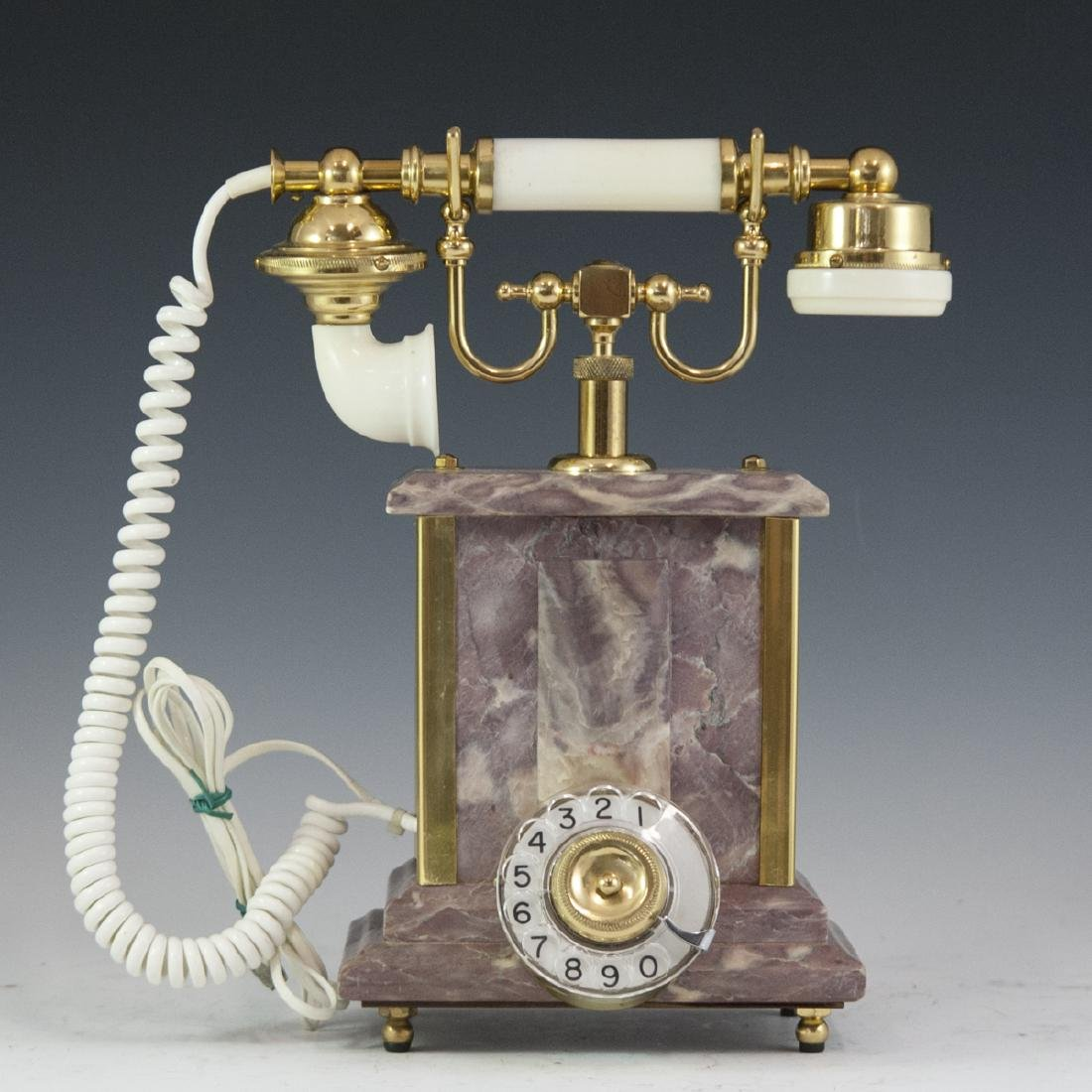 Marble & Brass Rotary Phone