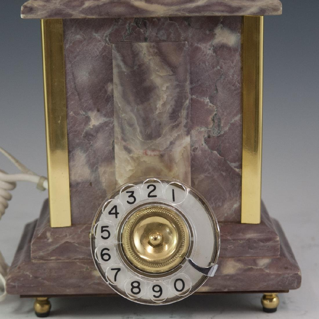 Marble & Brass Rotary Phone - 2