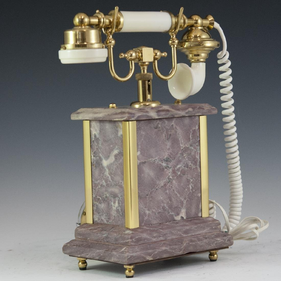 Marble & Brass Rotary Phone - 3