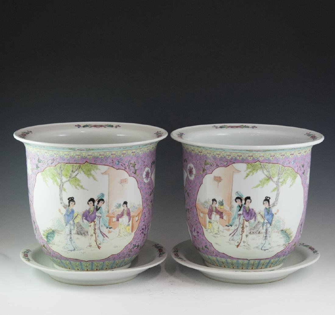 Chinese Export Famille Rose Porcelain Fishbowls