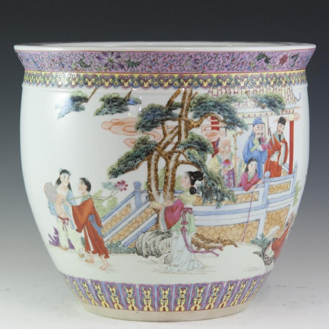 Chinese Famille Rose Enameled Fishbowl