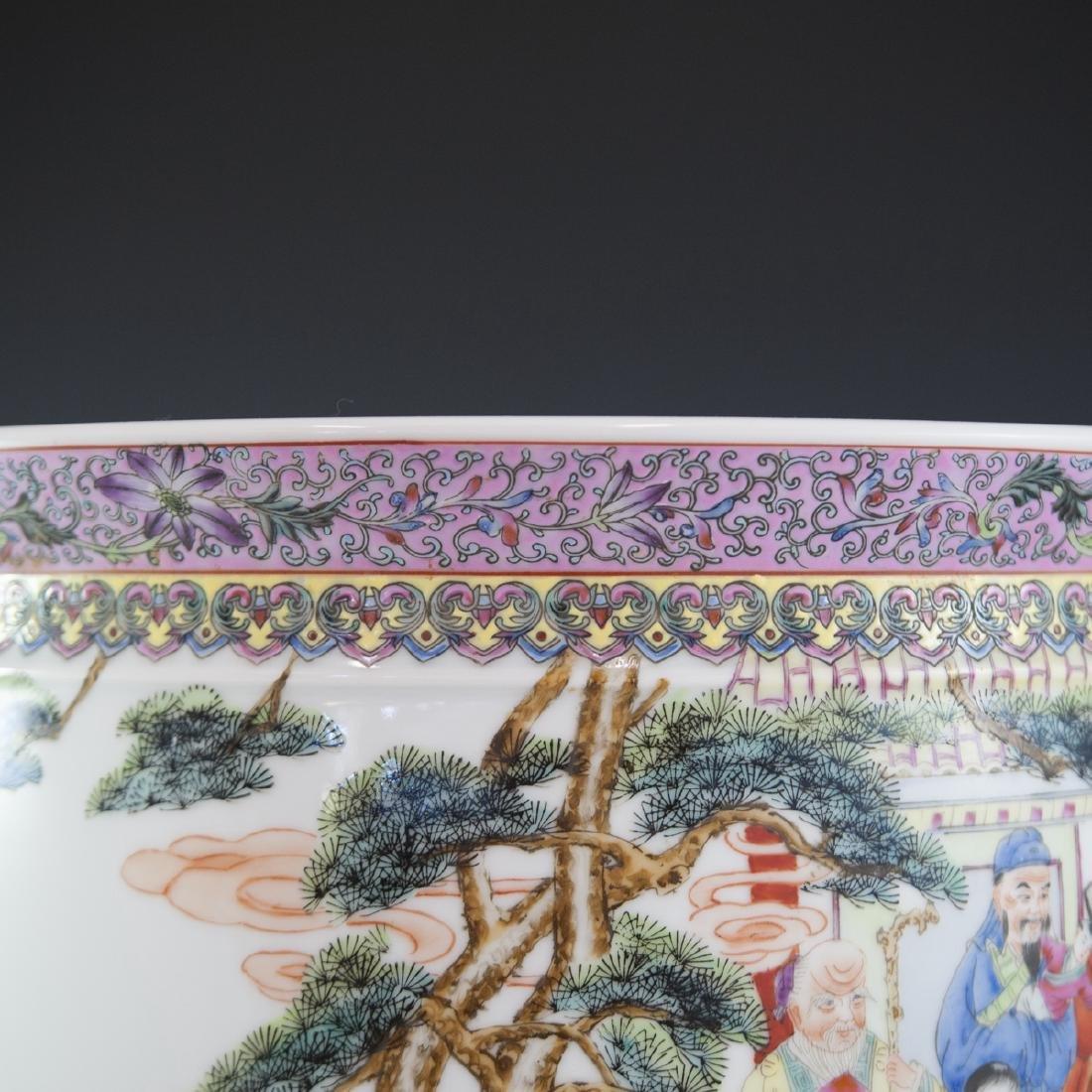Chinese Famille Rose Enameled Fishbowl - 2