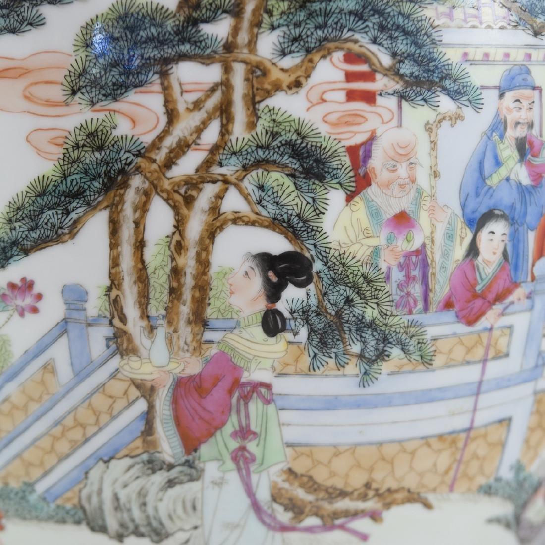 Chinese Famille Rose Enameled Fishbowl - 3