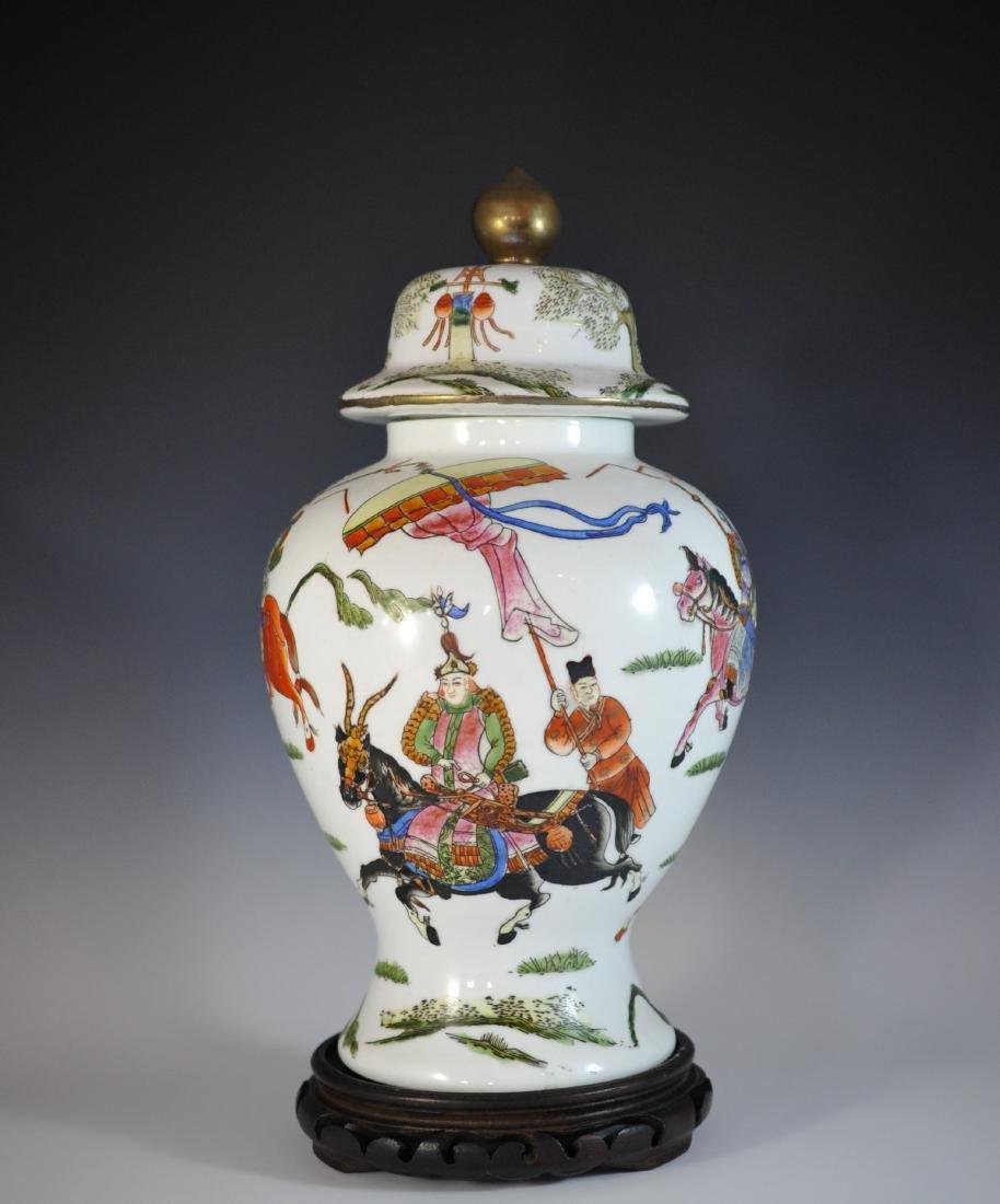 Chinese Famille Rose Porcelain Urn