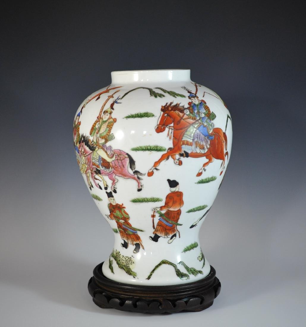 Chinese Famille Rose Porcelain Urn - 4