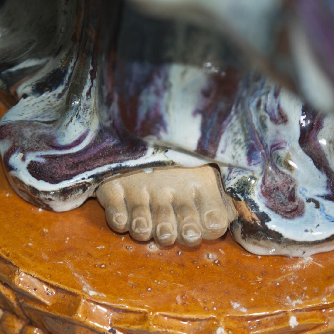 Large Vintage Ceramic Standing Buddha - 3