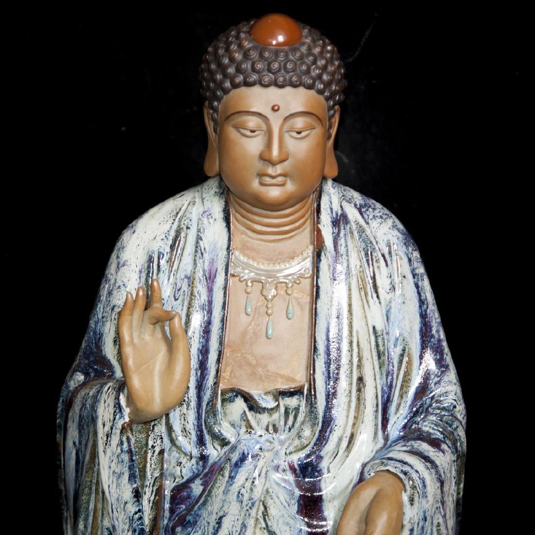 Large Vintage Ceramic Standing Buddha - 4