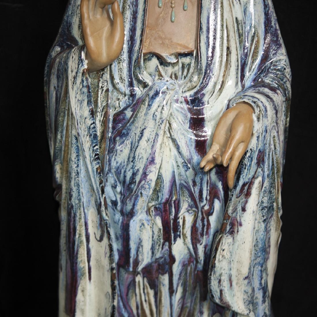Large Vintage Ceramic Standing Buddha - 5