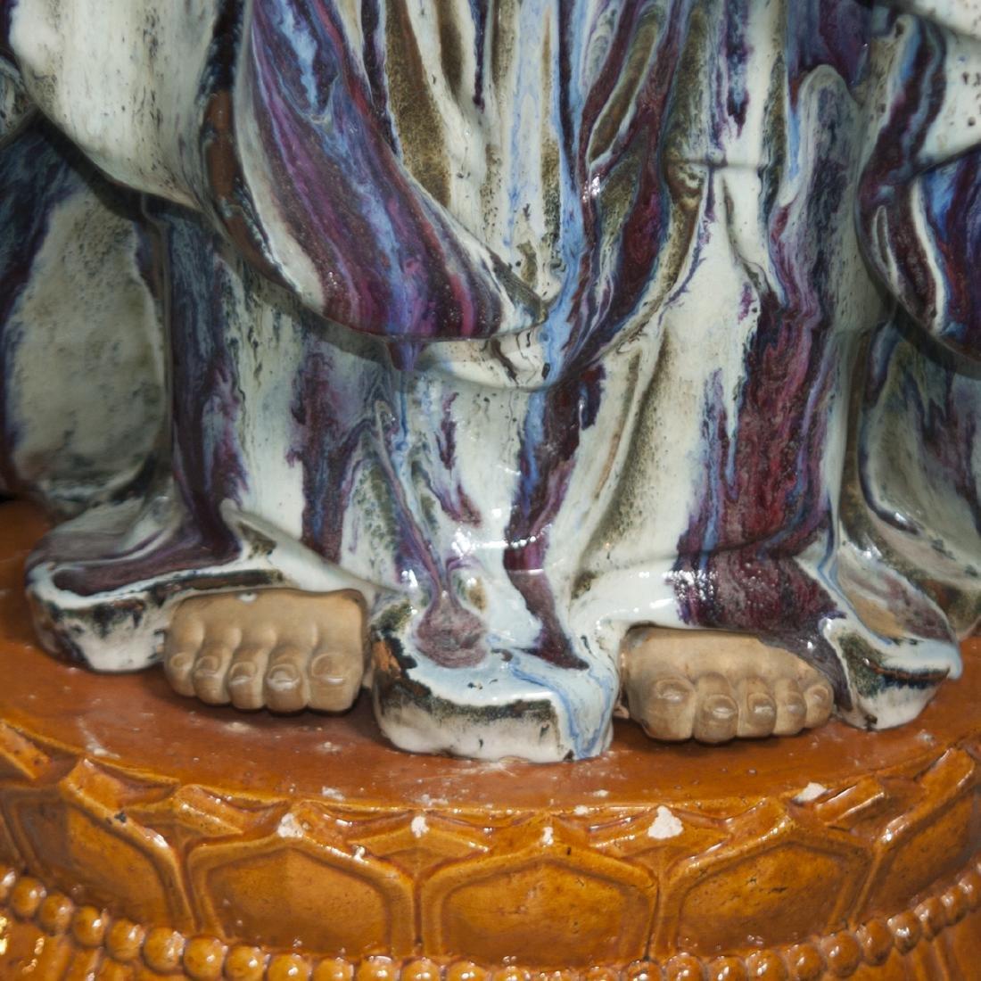 Large Vintage Ceramic Standing Buddha - 6