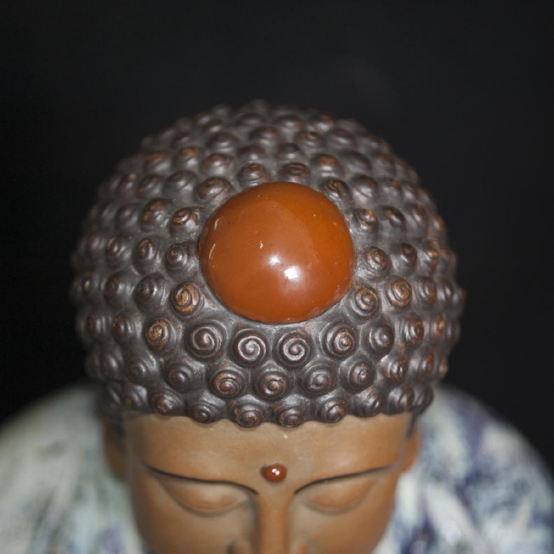 Large Vintage Ceramic Standing Buddha - 7
