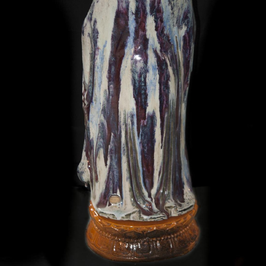 Large Vintage Ceramic Standing Buddha - 8