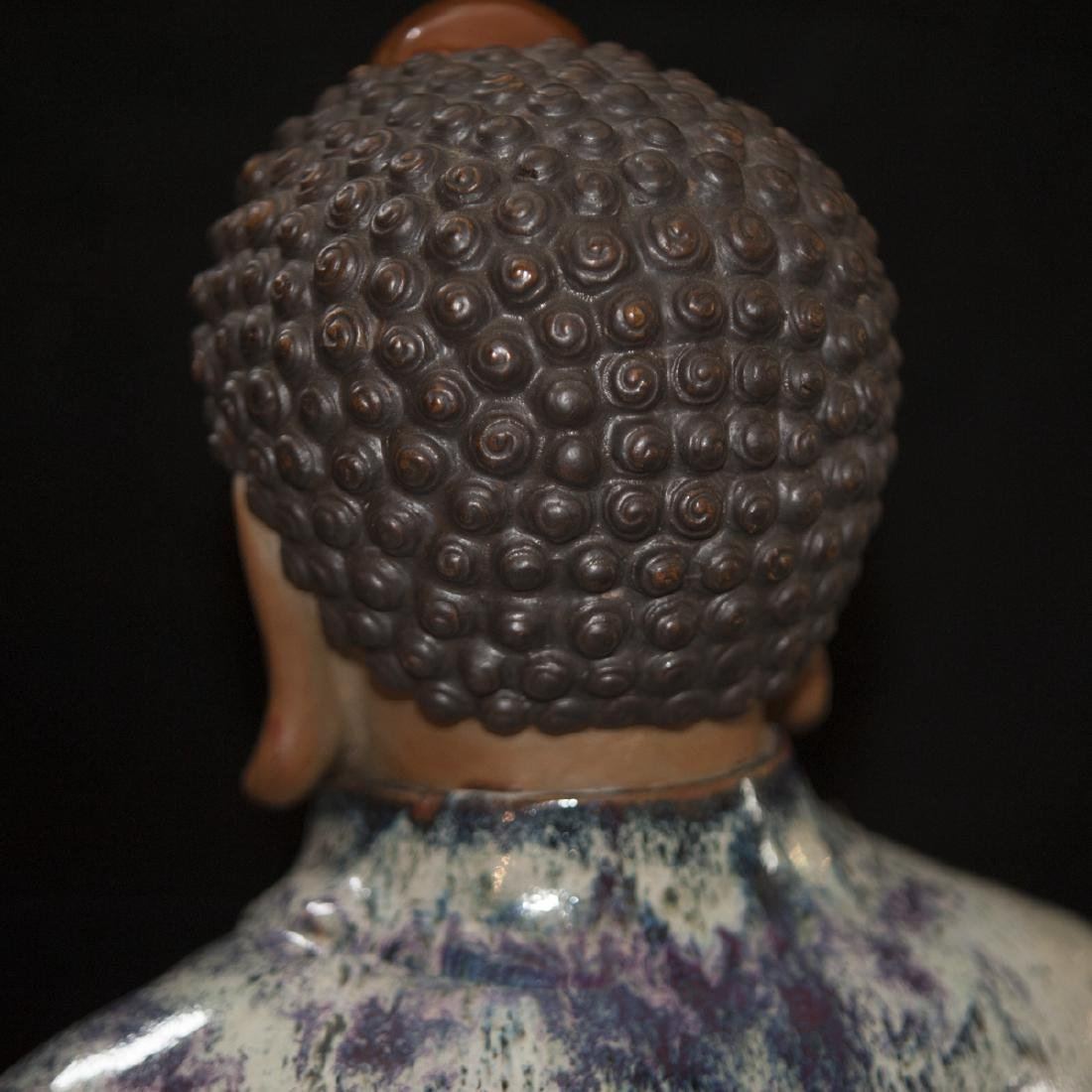 Large Vintage Ceramic Standing Buddha - 9