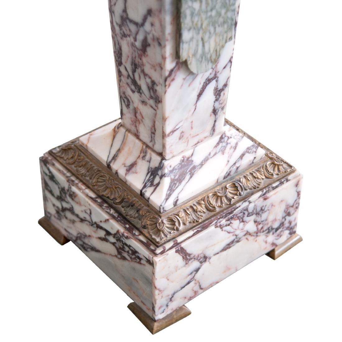 Antique Marble Dore Bronze Pedestal - 3