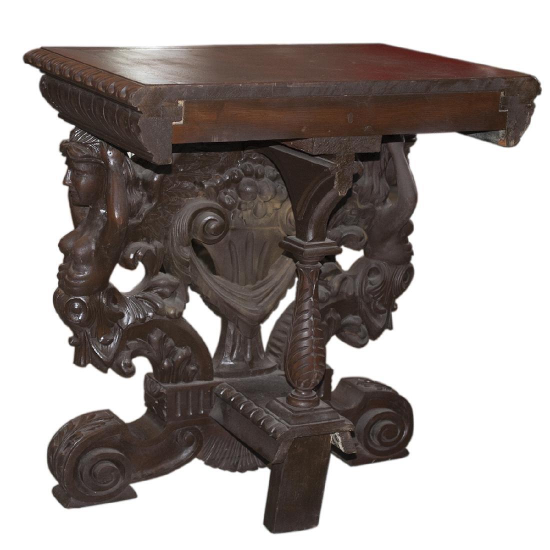 Wooden Figural Rococo Console Table - 2