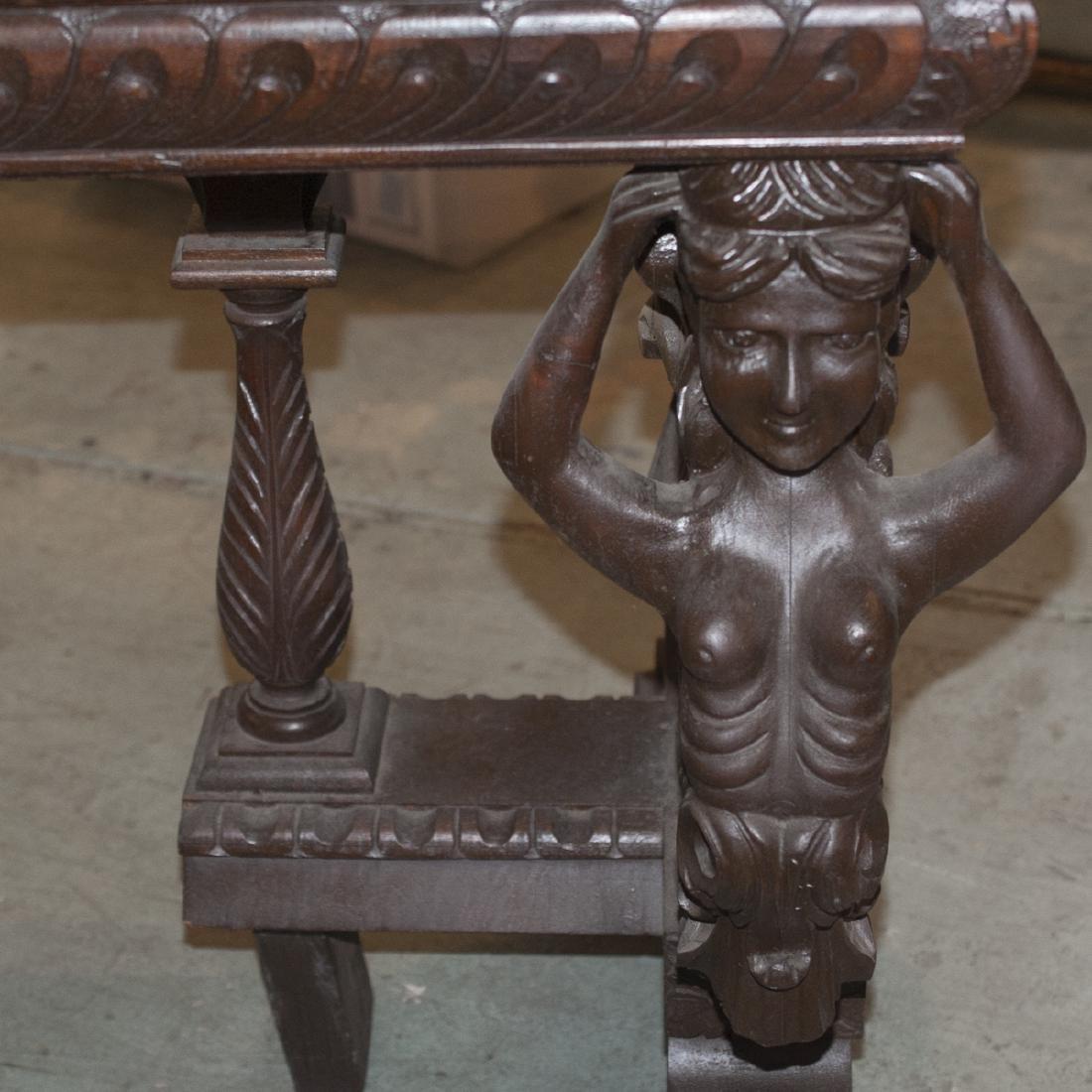 Wooden Figural Rococo Console Table - 3