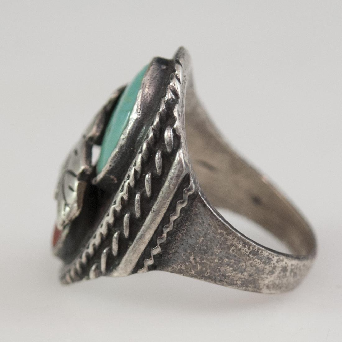 Navajo Style Sterling Ring - 2