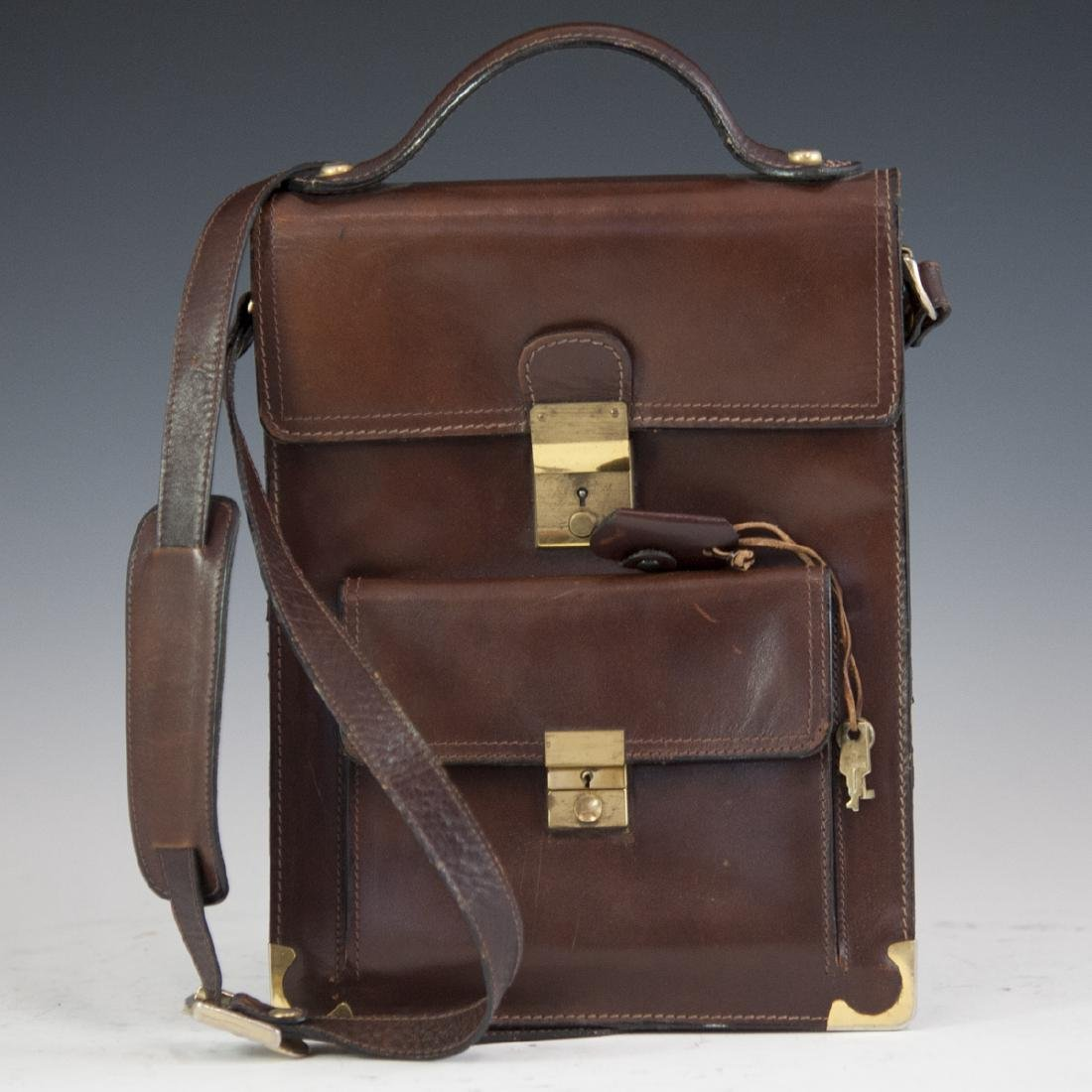 Leather & Brass Briefcase Satchel