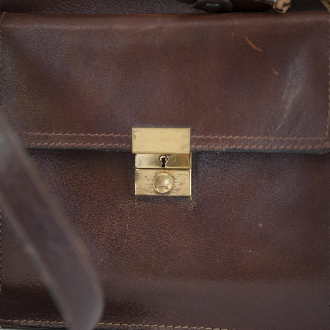 Leather & Brass Briefcase Satchel - 2